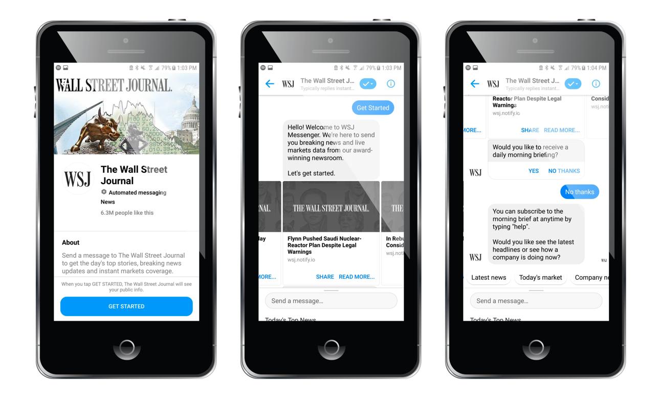 Esempio bot Wall Street Journal Credit Streamcreative