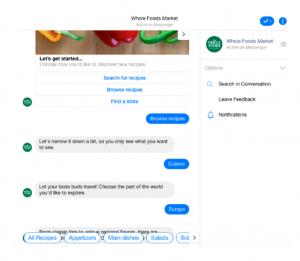 Esempio bot Whole Food Credit Impactbnd